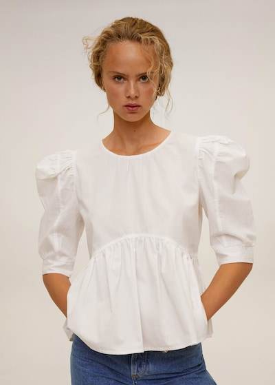MANGO Tunika u bijela melange, Prikaz modela