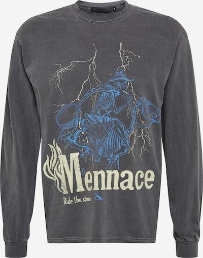Mennace Koszulka 'DISTRESSED SKELETAL MULE ' w kolorze jasnoniebieski / pastelowo-żółty / kamieńm, Podgląd produktu