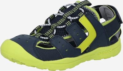 GEOX Kids Buty otwarte w kolorze ciemny niebieski / neonowo-żółtym, Podgląd produktu