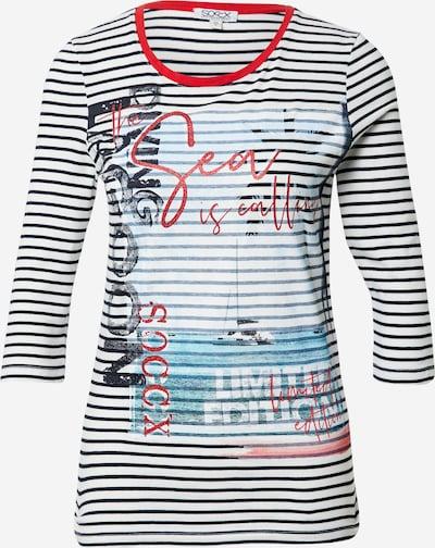 Soccx Shirt in de kleur Zwart / Wit, Productweergave
