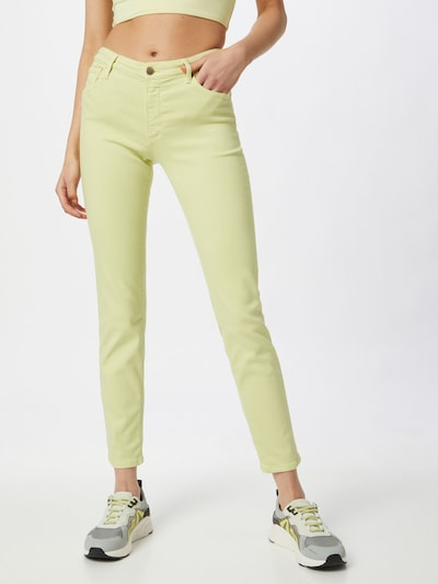 AG Jeans Jeans in de kleur Lichtgroen, Modelweergave