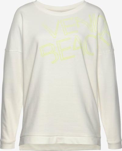 VENICE BEACH Sweatshirt in neongelb / weiß, Produktansicht