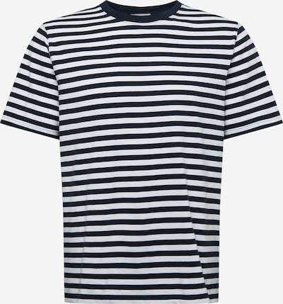 WOOD WOOD Тениска 'Sami' в морскосиньо / бяло: Изглед отпред