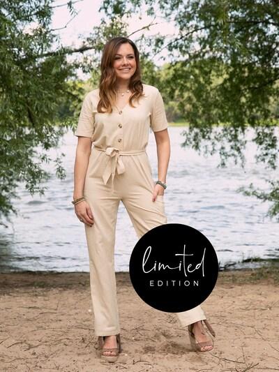 ABOUT YOU Limited Jumpsuit 'Yvonne' in de kleur Beige, Modelweergave