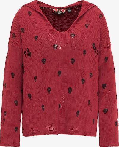 myMo ROCKS Pullover in rot / schwarz, Produktansicht