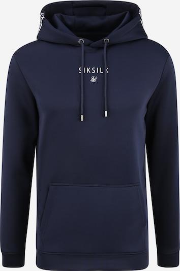SikSilk Sweater majica u mornarsko plava / bijela, Pregled proizvoda