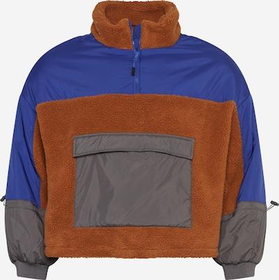 Urban Classics Curvy Prijelazna jakna u neonsko plava / karamela / tamo siva, Pregled proizvoda