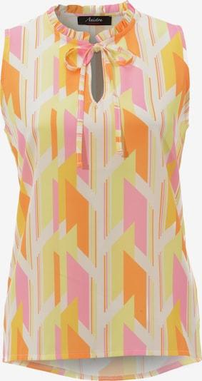 Aniston CASUAL Bluse in hellgelb / orange / hellpink, Produktansicht