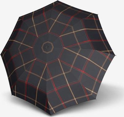 Doppler Paraplu 'Carbonsteel Mini' in de kleur Lichtbruin / Rood / Zwart, Productweergave
