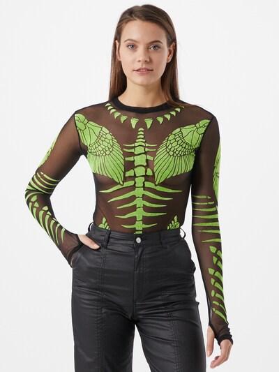 DIESEL Bodi majica 'T-NOELAY-H' u kivi zelena / crna: Prednji pogled