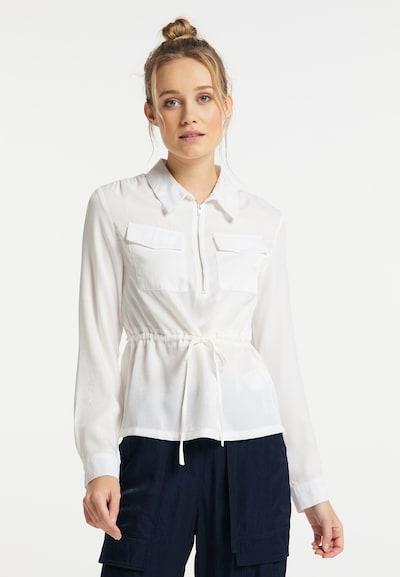 DreiMaster Vintage Blouse in de kleur Wit, Modelweergave