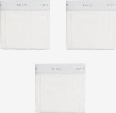 MANGO KIDS Boxershorts 'SOLID 8' in silbergrau / silber / weiß, Produktansicht