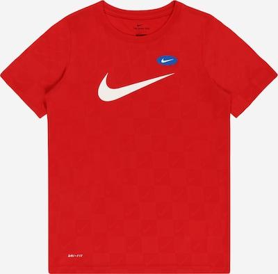 NIKE Functioneel shirt in de kleur Blauw / Rood / Wit, Productweergave