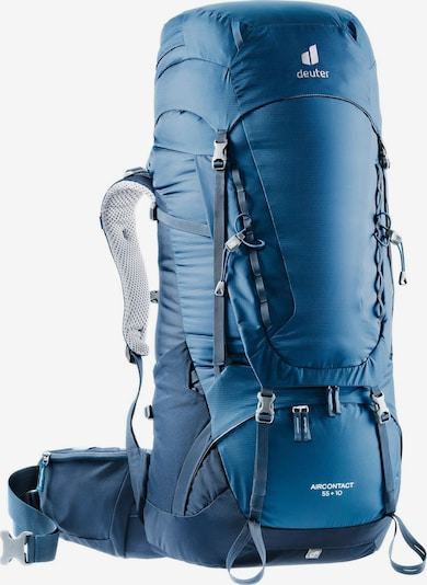 DEUTER Sports Backpack 'Aircontact 55 + 10' in Navy / Turquoise, Item view