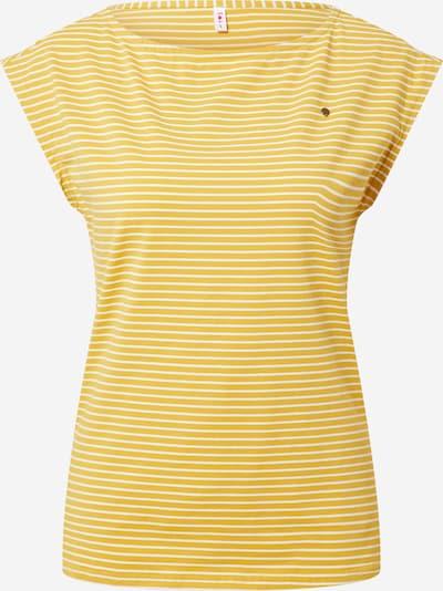 Blutsgeschwister Shirt in de kleur Mosterd / Wit, Productweergave