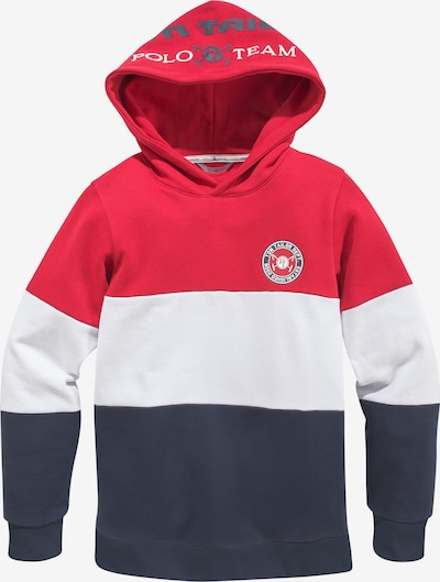 Tom Tailor Polo Team Sweatshirt in Navy / Red / White, Item view