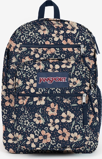 JANSPORT Rucksack in dunkelblau / pastellgrün / apricot / weiß, Produktansicht