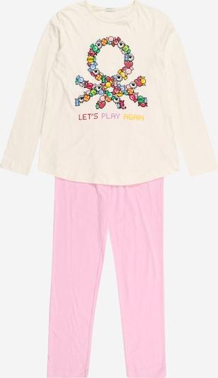 UNITED COLORS OF BENETTON Pyjama en crème / jaune / mélange de couleurs / rose, Vue avec produit