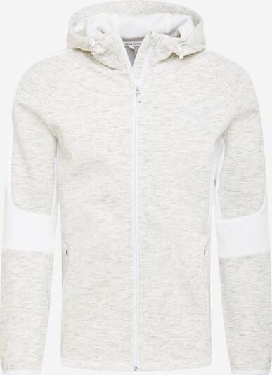 PUMA Sudadera con cremallera deportiva en gris / blanco, Vista del producto