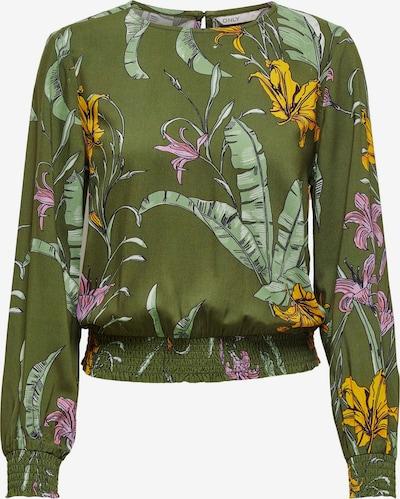 ONLY Bluse 'Palm' in gelb / oliv / pink / rosa, Produktansicht
