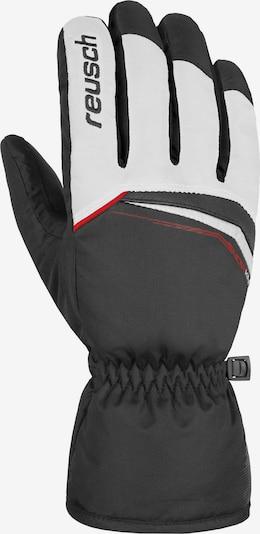 REUSCH Fingerhandschuh 'Snow King' in feuerrot / schwarz / weiß, Produktansicht
