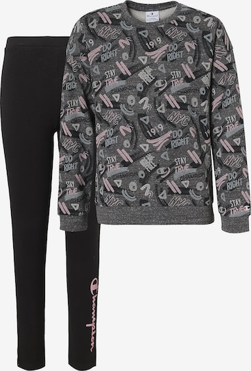 Champion Authentic Athletic Apparel Set Sweatshirt + Leggings in rauchgrau / graumeliert / pastellpink / schwarz, Produktansicht