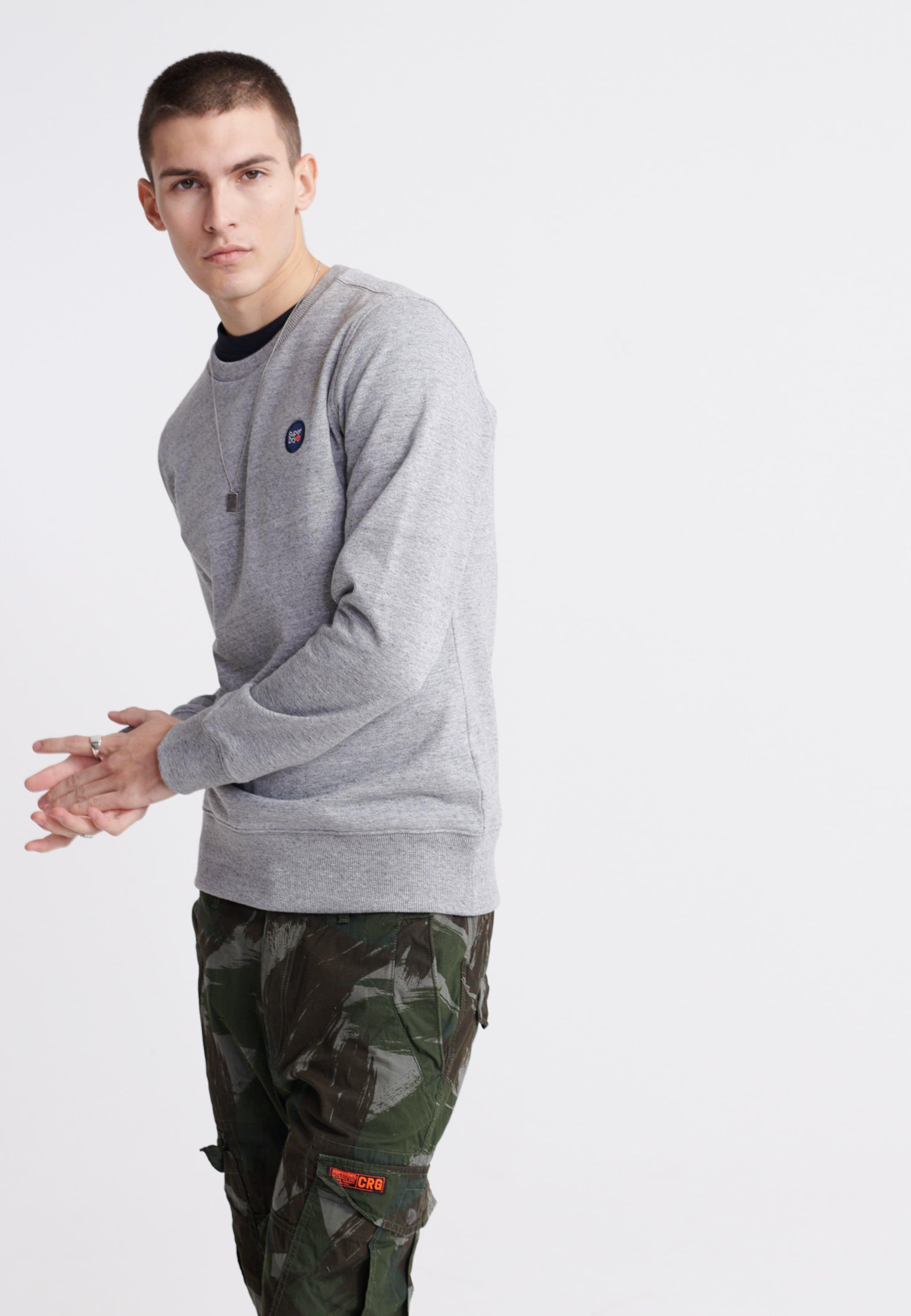 Superdry Sweatshirt in graumeliert Sweatstoff 10406075003429SS006