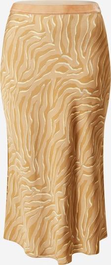 MOS MOSH Jupe 'Bias' en sable / blanc, Vue avec produit