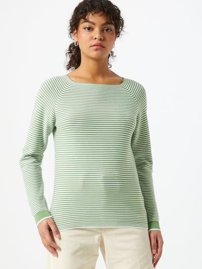 ESPRIT Pullover in hellgrün / weiß, Modelansicht