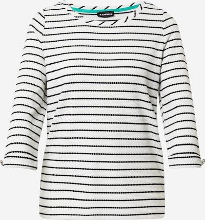 TAIFUN Shirt in schwarz / offwhite, Produktansicht