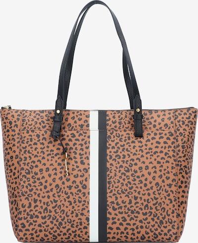 FOSSIL Rachel Shopper Tasche 45 cm in braun / weiß, Produktansicht