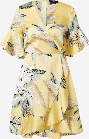 Rochie tip bluză 'DA772TS' AX Paris pe bej / albastru porumbel / galben auriu / alb, Vizualizare produs