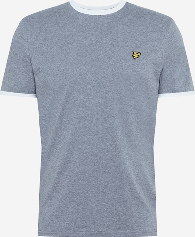 Lyle & Scott Shirt in de kleur Grijs / Wit, Productweergave