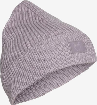 KnowledgeCotton Apparel Mütze ' Leaf Ribbing Hat ' in grau, Produktansicht