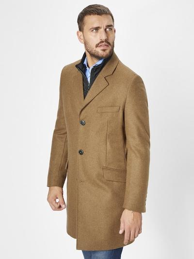 S4 Jackets Wollmantel in beige, Modelansicht