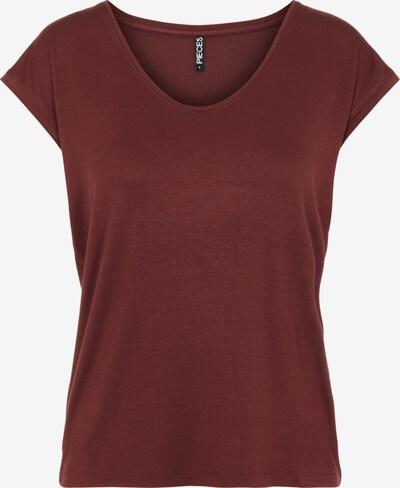 PIECES T-shirt 'Billo' en bourgogne, Vue avec produit