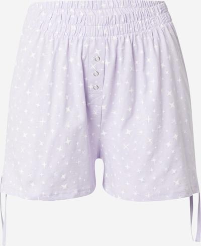 Cotton On Body Pyjamahose in pastelllila / weiß, Produktansicht