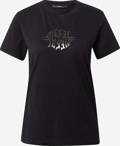 DIESEL Shirt 'T-SILY-K9' in de kleur Zilvergrijs / Zwart, Productweergave