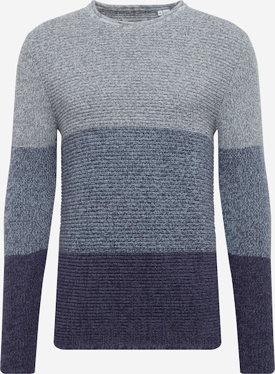 JACK & JONES Pullover in nachtblau / opal / blaumeliert, Produktansicht