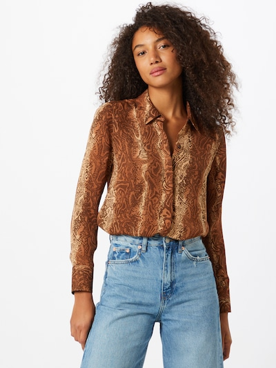 SCOTCH & SODA Bluse in beige / braun, Modelansicht