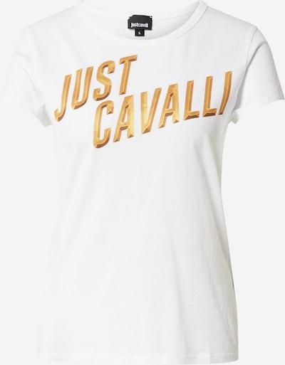 Tricou Just Cavalli pe galben auriu / alb, Vizualizare produs