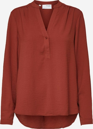 SELECTED FEMME Bluse in rostrot, Produktansicht