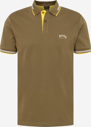 BOSS ATHLEISURE Tričko 'Paul' - brokátová / žlutá / bílá, Produkt