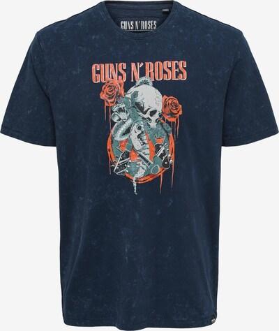 Only & Sons T-Krekls 'Guns and Roses', krāsa - baložzils / sarkans, Preces skats