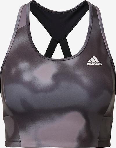ADIDAS PERFORMANCE Sport bh in de kleur Grijs / Zwart: Vooraanzicht