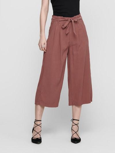 ONLY Pantalon 'Aminta' en rouge rouille, Vue avec modèle