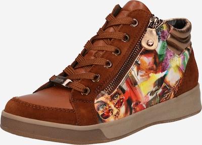 ARA Augstie brīvā laika apavi 'ROM', krāsa - karameļkrāsas / citronkrāsas / debesu lillā / tumši oranžs / meloņu, Preces skats