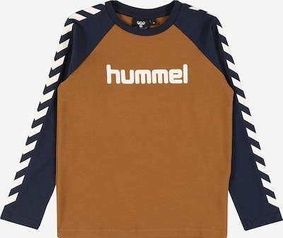 Hummel Camiseta en azul / marrón / blanco, Vista del producto