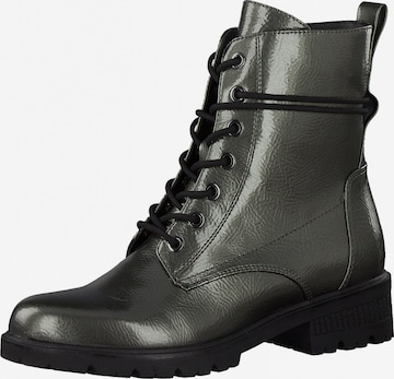 TAMARIS Lace-Up Ankle Boots in Silver