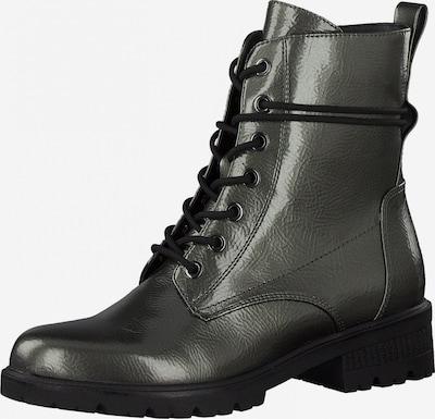 TAMARIS Schnürstiefelette in schwarz / silber, Produktansicht